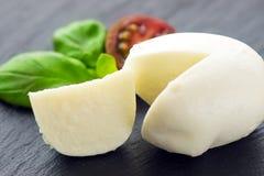 Mozzarella e bazil Immagine Stock Libera da Diritti