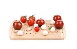 Mozzarella e pomodori freschi Immagine Stock