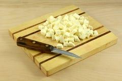 Mozzarella fresco desbastado Fotos de Stock