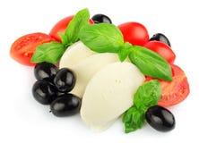 Mozzarella with fresh cherry tomatoes Royalty Free Stock Photo