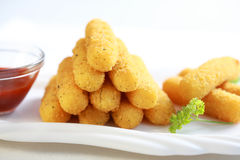 Mozzarella fried sticks Stock Photography