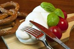 Mozzarella intrecciata Immagini Stock
