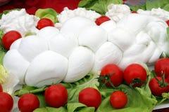 Mozzarella italiana Fotografie Stock