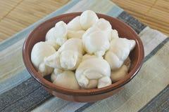 Mozzarella italiana fresca Fotografia Stock Libera da Diritti