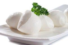 Mozzarella italiano do queijo fresco da vaca buffal Fotos de Stock