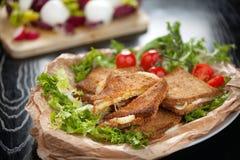 Mozzarella italiano em Carrozza Imagem de Stock