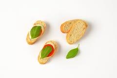 Mozzarella kanapki Zdjęcie Stock