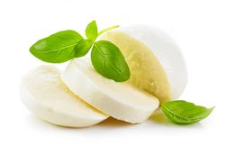 Mozzarella no fundo branco foto de stock royalty free