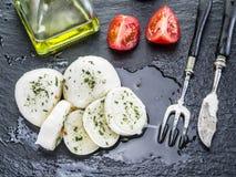Mozzarella och tomater Royaltyfri Bild