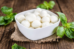Mozzarella (on Wooden Background) Stock Photography