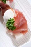 mozzarella parma ветчины стоковое фото