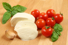mozzarella pomidory Obraz Royalty Free