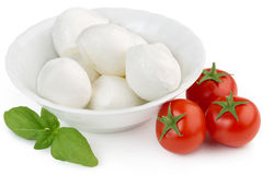 Mozzarella, pomidory i basil, Zdjęcia Stock