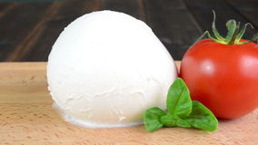 Mozzarella with red tomatoes stock video