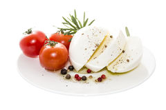 Mozzarella with rosemary Royalty Free Stock Image