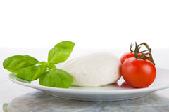 Mozzarella salad as Italian flag Royalty Free Stock Photo