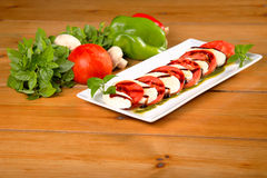 Mozzarella salad Stock Photography