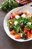 Mozzarella salad with tomatoes Stock Image