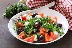 Mozzarella salad with tomatoes Royalty Free Stock Photos