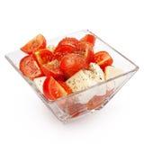 Mozzarella Salad With Cherry Tomatoes Stock Photo