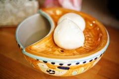 Mozzarella ser Włoski karmowy bardzo kochający zdjęcia stock