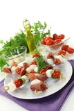 Mozzarella skewers Royalty Free Stock Image