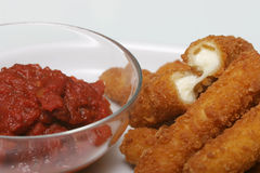 Mozzarella Sticks royalty free stock image