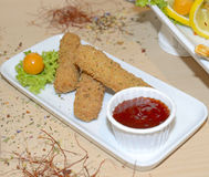Mozzarella sticks appetizer Royalty Free Stock Image