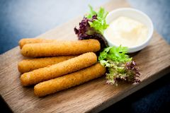 Mozzarella sticks Royalty Free Stock Photo
