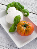 Mozzarella and tomato Royalty Free Stock Photography
