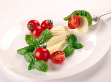 Mozzarella with tomato Stock Photos