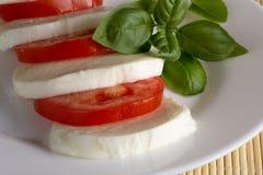 Mozzarella tomato basil Royalty Free Stock Image