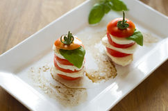 Mozzarella and Tomato Stock Images