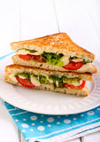 Mozzarella and tomato  grilled sandwich Stock Photography