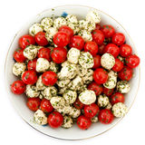 Mozzarella and tomato salad Royalty Free Stock Image