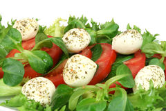 Mozzarella, tomato salad Royalty Free Stock Image