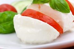 Mozzarella - Tomato Salad,with cucumber Royalty Free Stock Photography