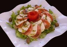 Mozzarella and tomato salad Stock Photos