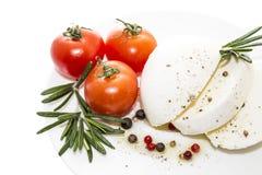 Mozzarella with tomato Royalty Free Stock Images