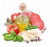 Mozzarella and tomatoes Stock Photography