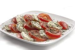 Mozzarella with tomatoes Stock Image