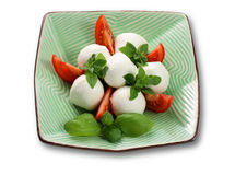 Mozzarella and tomatoes Stock Photos