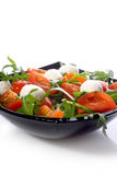 Mozzarella and tomatoes Royalty Free Stock Images