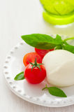 Mozzarella and tomatoes Royalty Free Stock Photos