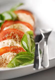 Mozzarella with tomatoes Royalty Free Stock Photography