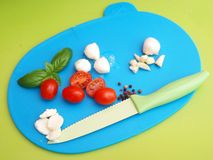 Mozzarella and tomatoes Royalty Free Stock Image