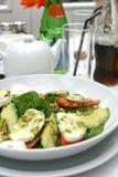 Mozzarella tricolore im Freien Lizenzfreie Stockfotos