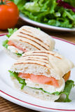 Mozzarella und Tomate panini Lizenzfreies Stockfoto
