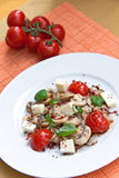 Mozzarella With Mushrooms , Mint Ant Baked Cherry Royalty Free Stock Images