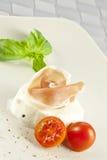 mozzarelli parmaham Zdjęcie Stock